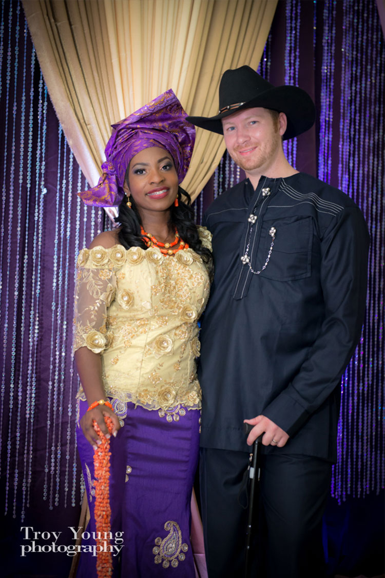 Bride-and-groom-dressed-in-Nigerian-wedding-costumes-Calgary-wedding-planner