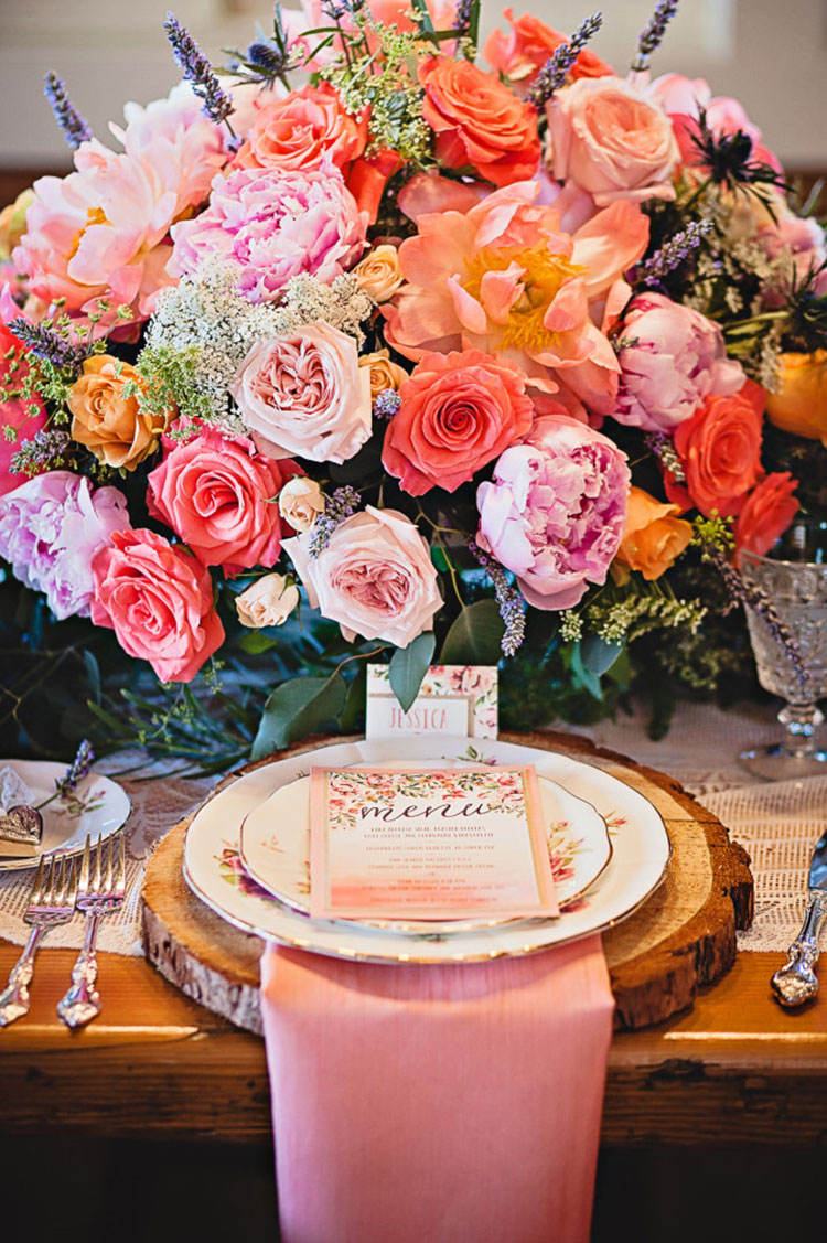 Peach-and-pink-floral-bouquet-with-vintage-china-Calgary-wedding-planner-682x1024