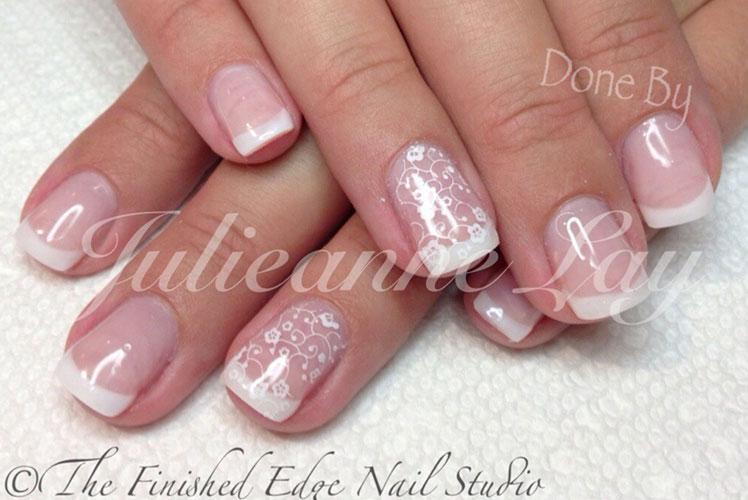 Wedding French Manicure Nails Designed Calgary