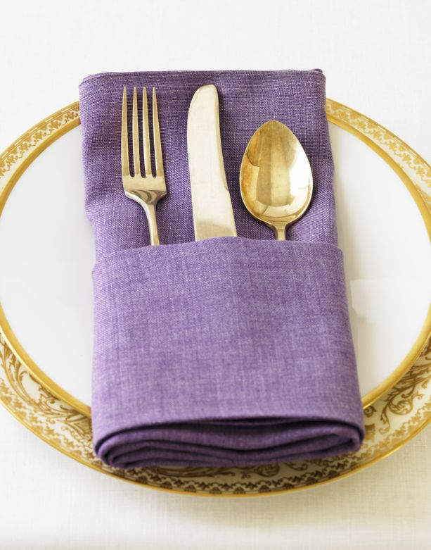 purple napkin