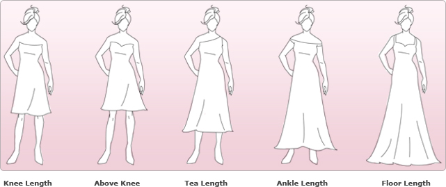 wedding length chart