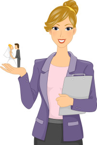 Wedding planner cartoon