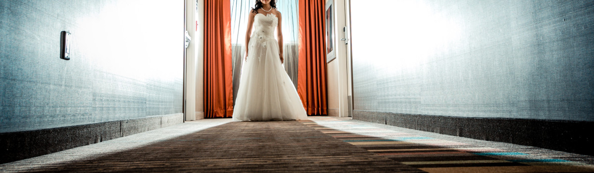 Bride after ceremony, calgary wedding planner
