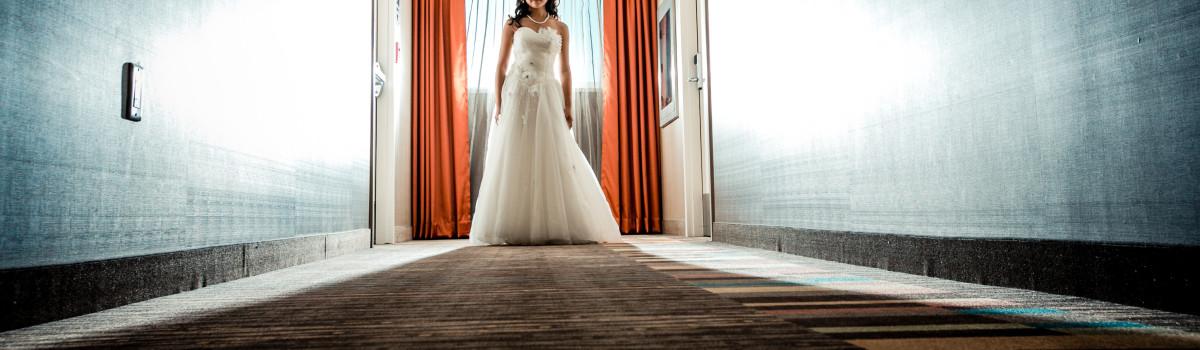 Bride after ceremony, calgary wedding planner
