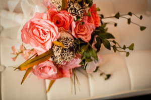 Bouquet made out of coffee filters. Northridge Photography.