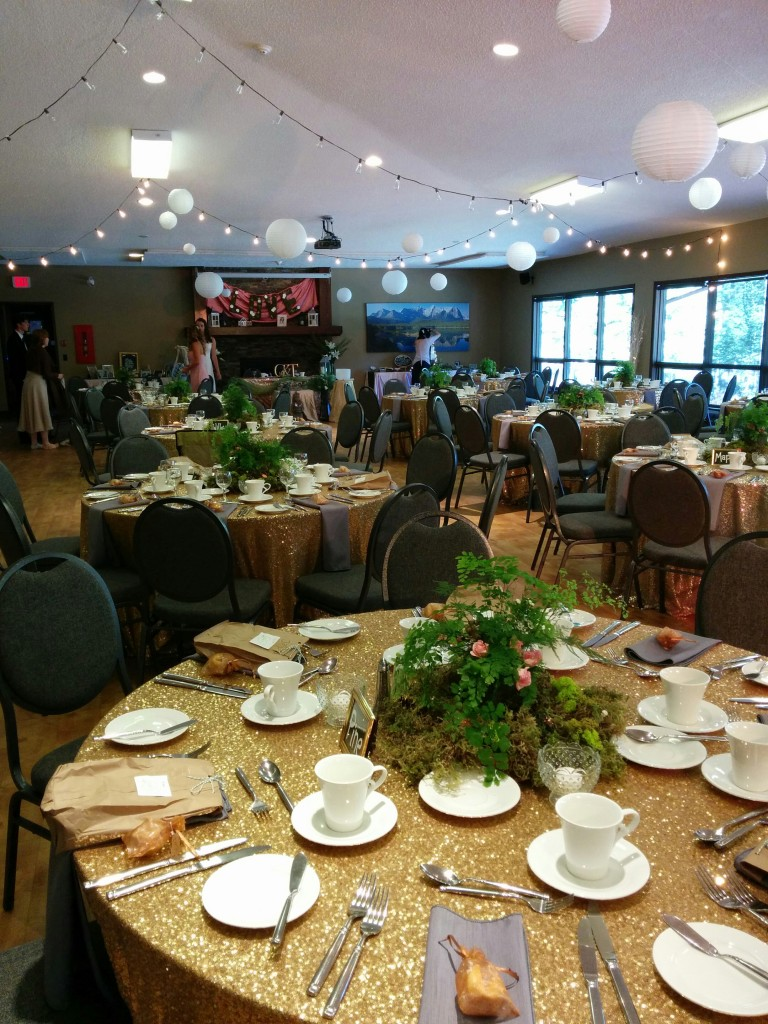 The panoramic view of the reception venue