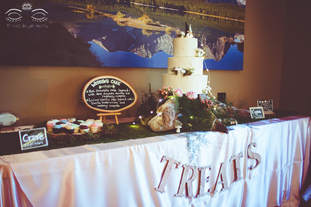 The cake and sweets table