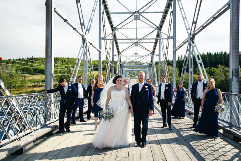 Calgary Vintage Wedding planner, bridal party on a bride