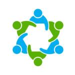 43154279 - people logo. group of six