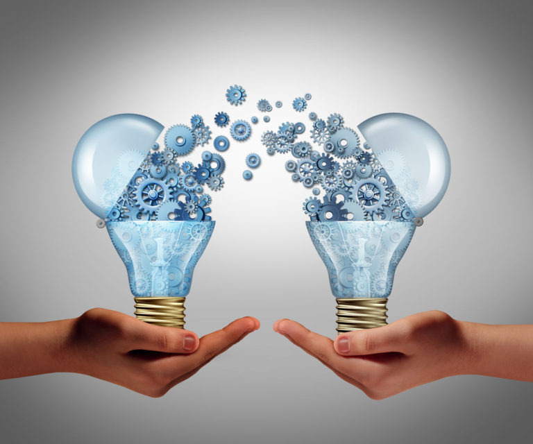 39533548 - ideas agreement investing in business innovation concept and financial commerce backing of creativity as an open lightbulb symbol for funding potential innovative growth prospect through venture capital.