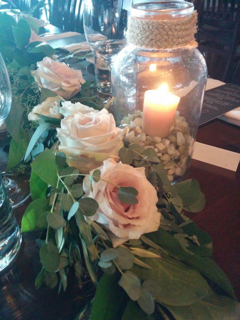 Rustic Calgary wedding flowers