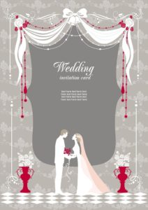 20544612 - wedding invitation with space for text