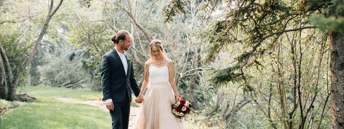 couple weddings calgary forest
