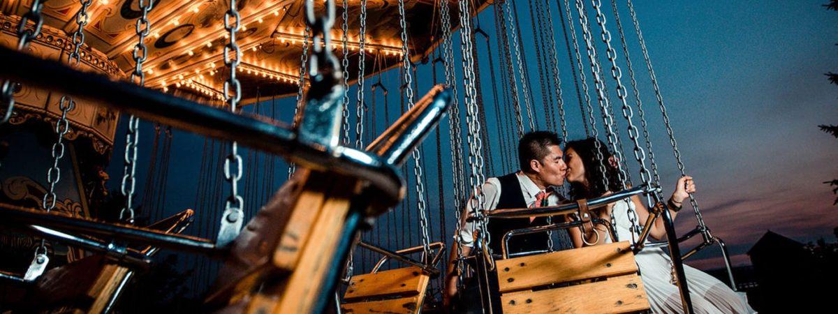 Wedding kiss swings