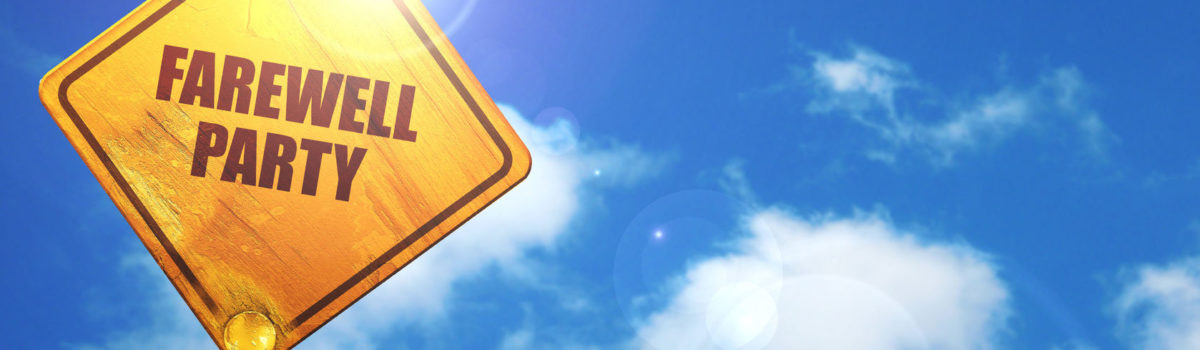 72958708 - farewell party, 3d rendering, traffic sign