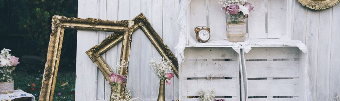 72761123 - vintage still life decoration for wedding reception. marriage and love concept in retro style. bridal arrangement.